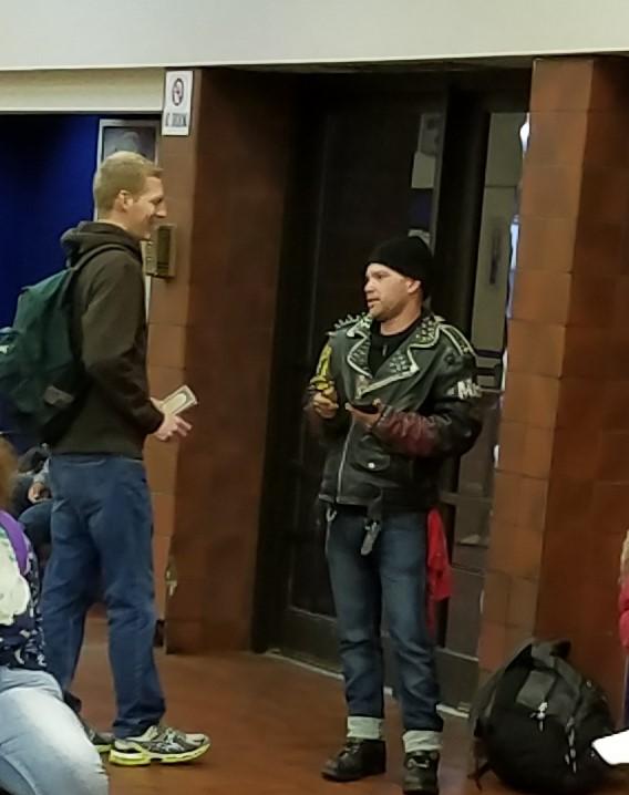 Evangelize Cincinnati at the Greyhound Bus Station